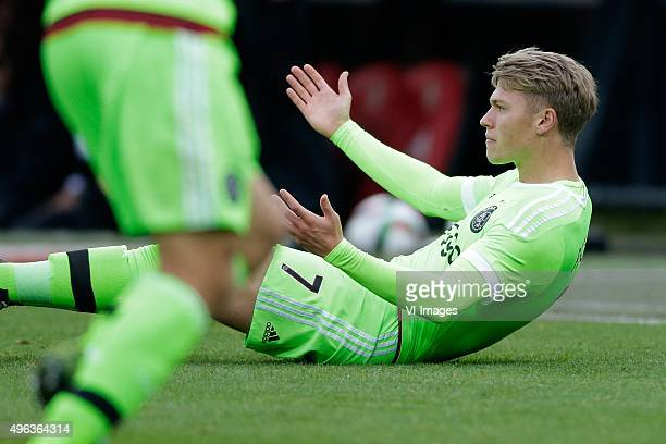 Viktor Fischer of Ajax during the Dutch Eredivisie match between Feyenoord Rotterdam and Ajax Amsterdam at the Kuip on November 8 2015 in Rotterdam...