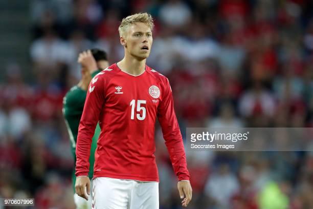Viktor Fischer of Denmark during the International Friendly match between Denmark v Mexico at the Brondby Stadium on June 9 2018 in Copenhagen Denmark