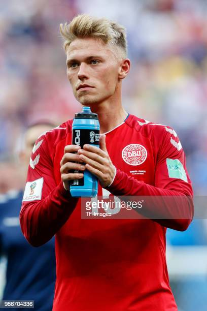 Viktor Fischer of Denmark looks on after the 2018 FIFA World Cup Russia group C match between Denmark and France at Luzhniki Stadium on June 26 2018...