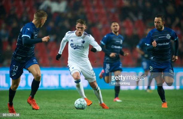 Viktor Fischer of FC Copenhagen controls the ball during the Danish Alka Superliga match between FC Nordsjalland and FC Midtjylland at Right to Dream...