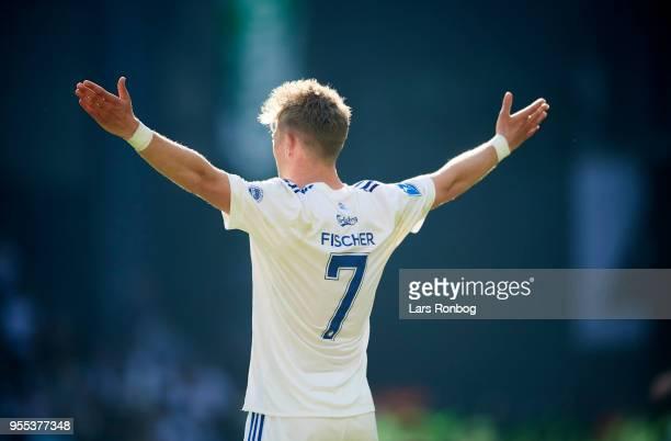 Viktor Fischer of FC Copenhagen gestures during the Danish Alka Superliga match between FC Copenhagen and Brondby IF at Telia Parken Stadium on May 6...