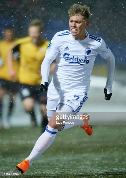 Viktor Fischer of FC Copenhagen in action during the Danish Alka Superliga match between Hobro IK and FC Copenhagen at DS Arena on February 28 2018...