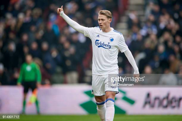 Viktor Fischer of FC Copenhagen in action during the Danish Cup DBU Pokalen match between FC Copenhagen and Brondby IF in Telia Parken Stadium on...