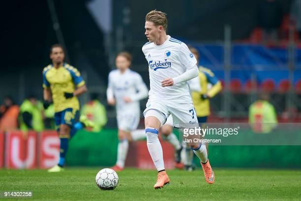 Viktor Fischer of FC Copenhagen in action during the Danish Cup DBU Pokalen match between FC Copenhagen and Brondby IF in Telia Parken Stadium on...