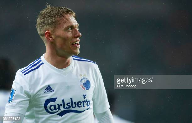 Viktor Fischer of FC Copenhagen looks on during the Danish Alka Superliga match between FC Copenhagen and FC Helsingor at Telia Parken Stadium on...
