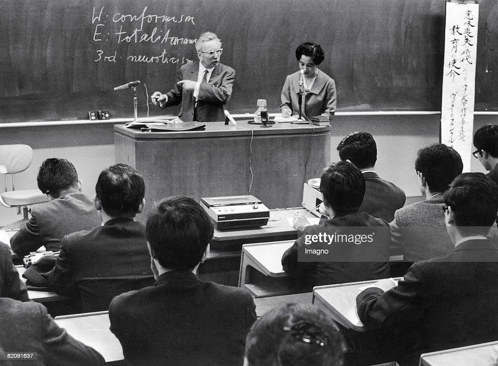 Viktor Frankl at a lecture in Tokyo, Japan, Photograph, 1969 : News Photo