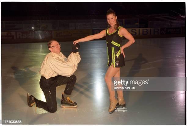 Viktor Giacobbo and Denise Biellmann on the ice, 1997