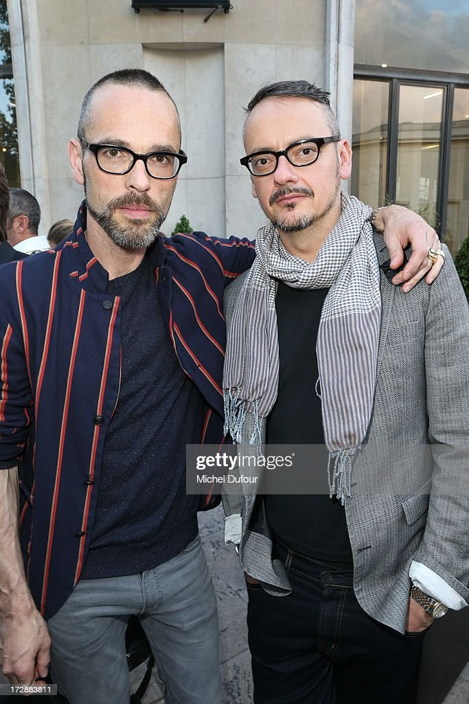 Viktor Horsting and Rolf Snoeren of Viktor & Rolf attend the Chambre Syndicale de la Haute Couture cocktail party at Palais De Tokyo on July 4, 2013 in Paris, France.