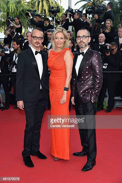 Viktor Horsting Rolf Snoeren and Nadja Swarovski attend the 'How To Train Your Dragon 2' Premiere at the 67th Annual Cannes Film Festival on May 16...