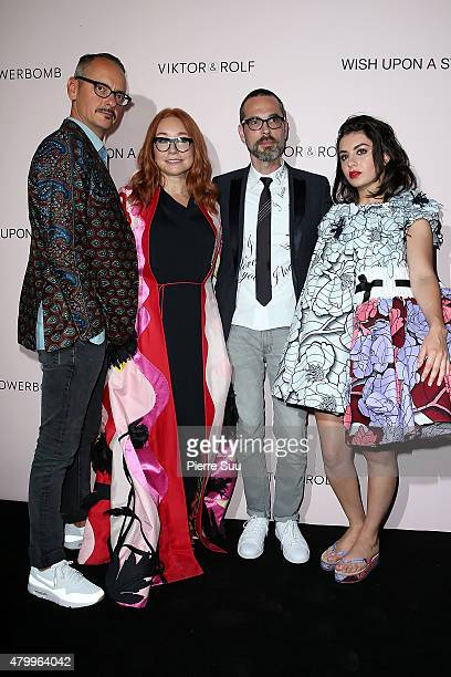 Viktor HorstingCharli XCX Tori Amos and Rolf Snoeren attend the ViktorRolf FlowerBomb Fragrance 10th Anniversary Party as part of Paris Fashion Week...