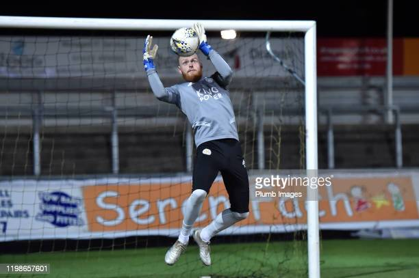 Viktor Johansson of Leicester City before the Leasingcom quarter final match between Newport County and Leicester City U21 at Rodney Parade on...