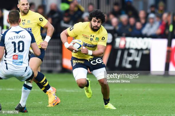 Viktor Kolelishvili of Clermont during the Top 14 match between Clermont and Montpellier at on January 28 2018 in Clermont France