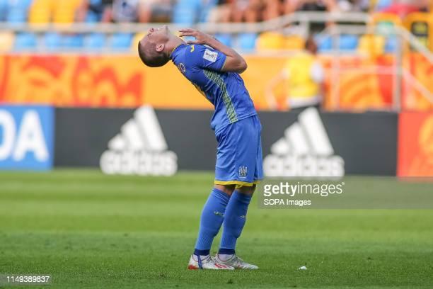 Viktor Korniienko of Ukraine seen in action during the FIFA U-20 World Cup match between Ukraine and Italy in Gdynia. .