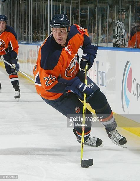Viktor Kozlov of the New York Islanders skates against the Atlanta Thrashers during their game at Nassau Coliseum November 4, 2006 in Uniondale, New...