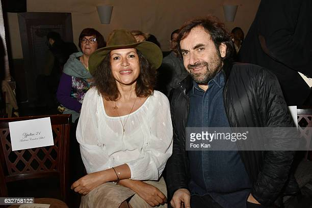 Viktor Lazlo and Andre Manoukian attend the Franck Sorbier Haute Couture Spring Summer 2017 show as part of Paris Fashion Week on January 25 2017 in...