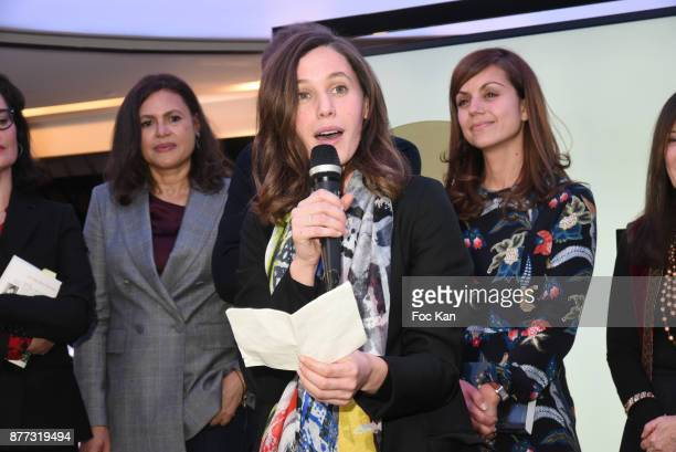 Viktor Lazlo Kaouther Adimi and Veronique Cardi attend the 'Le Prix Du Style 2017' Literary awards Hosted by BMW Obadia Stasi and Page des libraires...