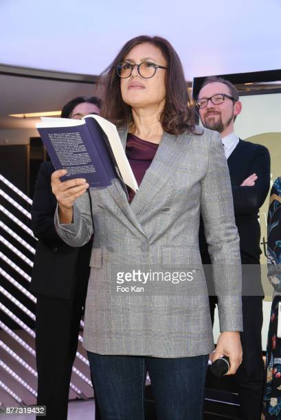 Viktor Lazlo reads some passages from Miguel Bonnefoy's book 'Sucre Noir' during Le Prix Du Style 2017' Literary awards Hosted by BMW Obadia Stasi...