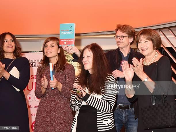 Viktor Lazlo Veronique Cardi Georges Marc Habib Macha Meril and Irene Frain attend 'Le Prix Du Style 2016' Literary awards at BMW Brand Store...