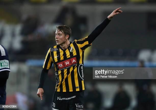 Viktor Lundberg of BK Hacken during the preseason friendly match between BK Hacken and Utsiktens BK at Bravida Arena on January 23 2018 in Gothenburg...