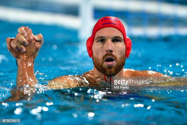 Viktor Nagy during FINA World Championships Men's Water Polo game between Hungary and Russia on July 25 2017 in Budapest Hungary
