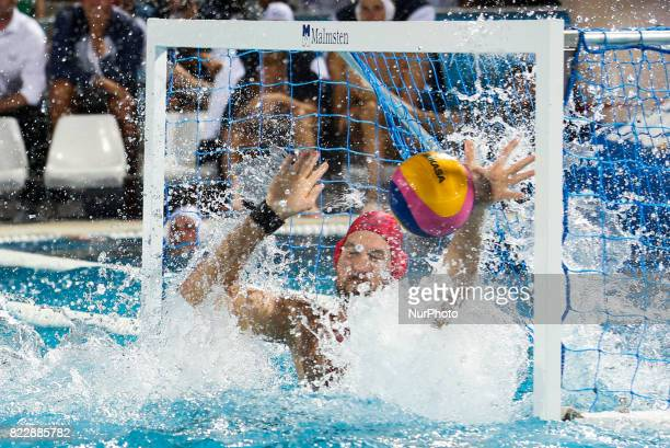 Viktor Nagy in action during the quarterfinal of the men's water polo match between Hungary and Russia at the 17th FINA World Championships in...