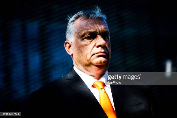 Viktor Orban, the Prime Minister of Hungary, is photographed during the Visegrad Group Heads of State meeting in Katowice, Poland on June 30, 2021....
