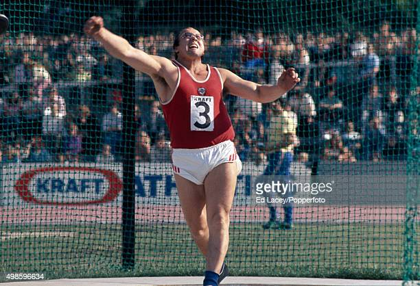 Viktor Penzikov of the Soviet Union in action during the discus throw at a Great Britain v Soviet Union event at Crystal Palace London on August 25th...