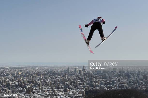 Viktor Polasek of Czech Republic competes during day two of the FIS Ski Jumping World Cup Sapporo at Okurayama Jump Stadium on January 27, 2019 in...
