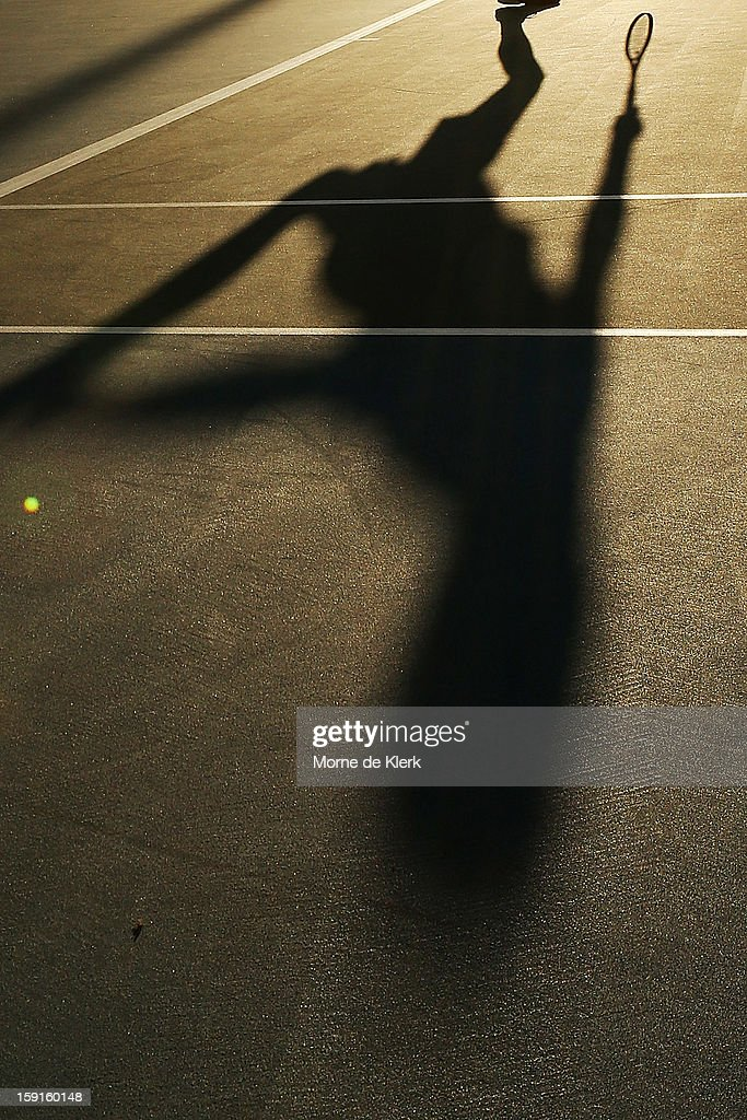 Viktor Troicki of Serbia competes during the World Tennis Challenge at Memorial Drive on January 9, 2013 in Adelaide, Australia.