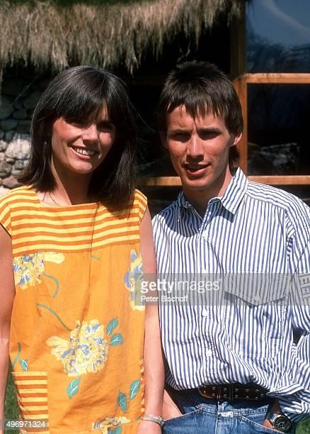 """""""Viktor Worms, Ehefrau Astrid Worms, Urlaub am im Hotel """"""""Stanglwirt"""""""" in Going in Tirol, Österreich. """""""