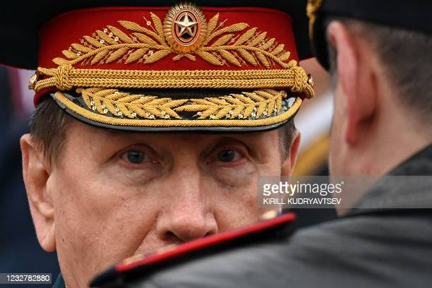 Viktor Zolotov, the director of the National Guard Troops, attends the Victory Day military parade at Red Square in Moscow on May 9, 2021. - Russia...