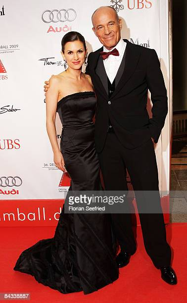 Viktoria and Heiner Lauterbach arrive at the 36th German Film Ball 2009 at the Hotel Bayerischer Hof on January 17 2009 in Munich German