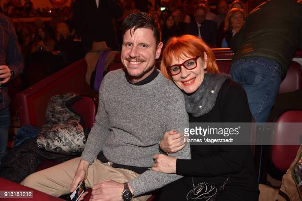 Viktoria Brams and her son Patrick Hinz during Circus Krone celebrates premiere of 'Hommage' at Circus Krone on February 1 2018 in Munich Germany