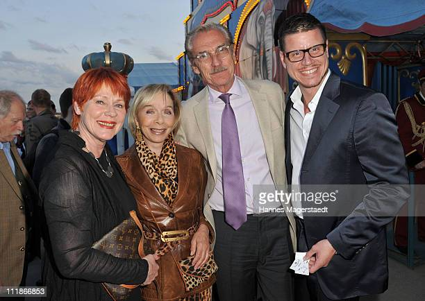Viktoria Brams Monika Peitsch and her husband and Sven HansenHoechsted and Patrick Hinz attend the Circus Krone 'Celebration' Premiere on April 7...