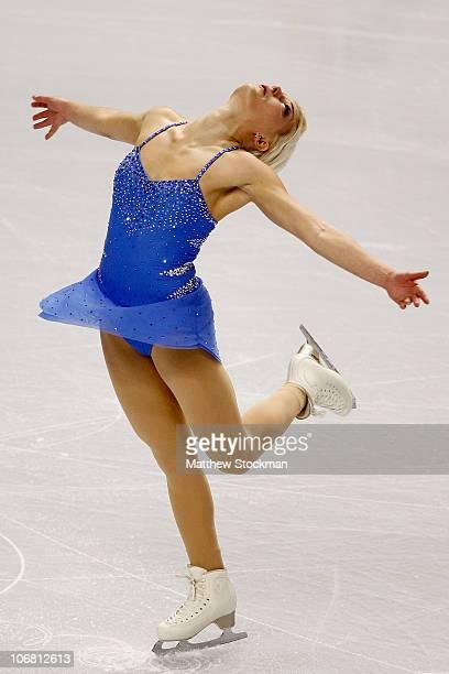 Viktoria Helgesson of Sweden competes in the Short Program during Skate America at Rose Garden Arena on November 13 2010 in Portland Oregon