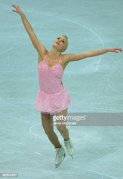 Viktoria Helgesson of Sweden in action during her Short Programe during the ISU World Figure Skating Championships at the Scandinavium Arena on March...