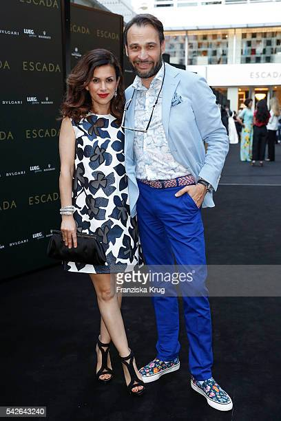 Viktoria Lauterbach and Alexander Klaus Stecher attend the ESCADA Flagship Store Opening on June 23 2016 in Duesseldorf Germany