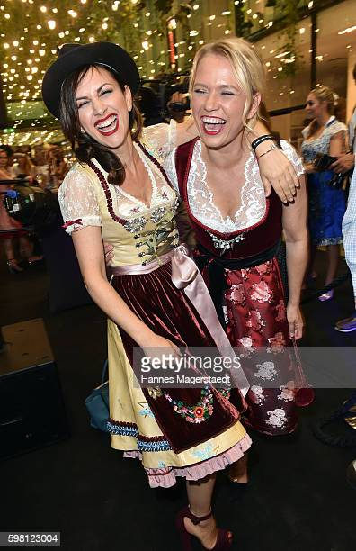 Viktoria Lauterbach and Nova Meierhenrich during the dresscoded goes Wasen event at Armani Caffe on August 31 2016 in Munich Germany Dresscoded will...