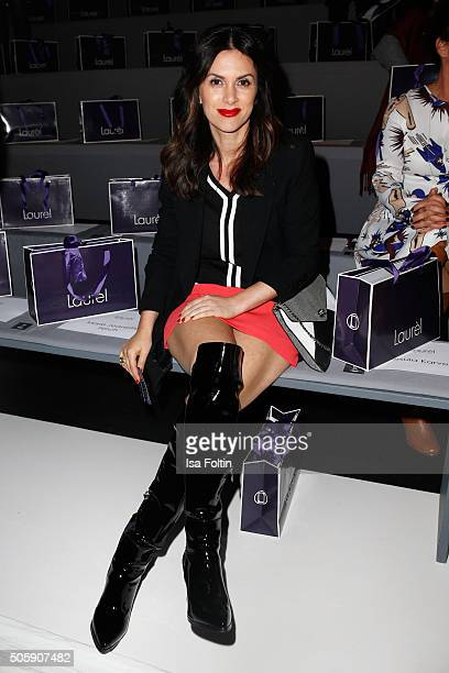 Viktoria Lauterbach attends the Laurel show during the MercedesBenz Fashion Week Berlin Autumn/Winter 2016 at Brandenburg Gate on January 20 2016 in...