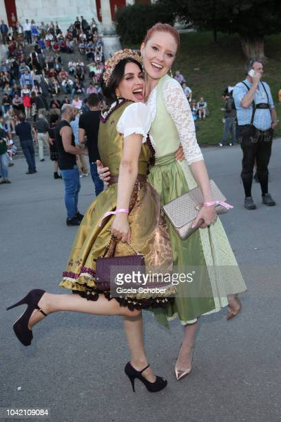 Viktoria Lauterbach Barbara Meier during the Madlwiesn as part of the Oktoberfest 2018 at Schuetzenfesthalle tent at Theresienwiese on September 27...