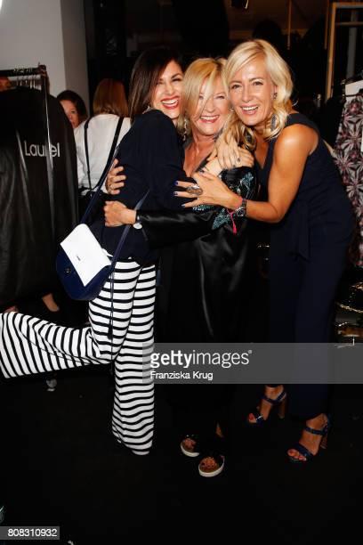 Viktoria Lauterbach designer Elisabeth Schwaiger and Judith Milberg attend the Laurel show during the MercedesBenz Fashion Week Berlin Spring/Summer...