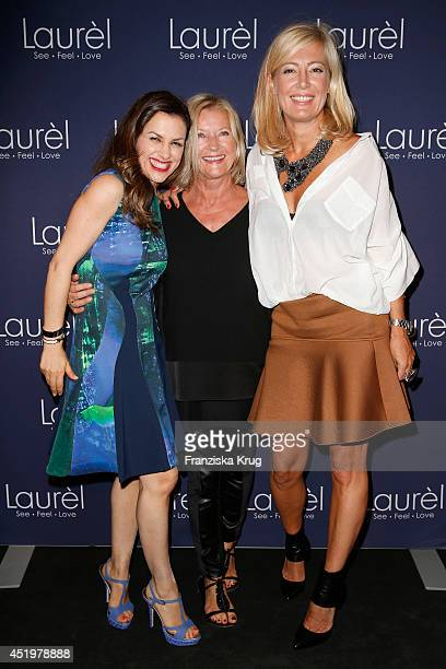 Viktoria Lauterbach Elisabeth Schwaiger and Judith Milberg attend the Laurel show during the MercedesBenz Fashion Week Spring/Summer 2015 at Erika...
