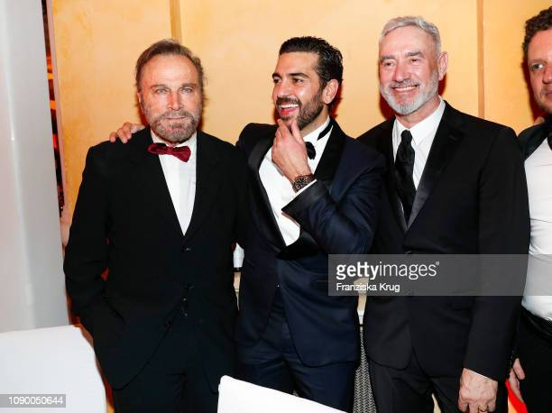 Viktoria Lauterbach Elyas M'Barek and Roland Emmerich during the 46th German Film Ball at Hotel Bayerischer Hof on January 26 2019 in Munich Germany