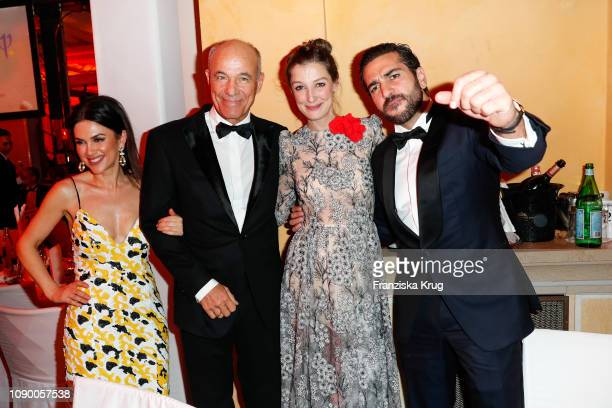 Viktoria Lauterbach Heiner Lauterbach Alexandra Maria Lara and Elyas M'Barek during the 46th German Film Ball at Hotel Bayerischer Hof on January 26...