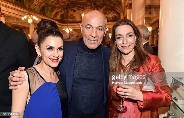 Viktoria Lauterbach Heiner Lauterbach and Aglaia Szyszkowitz attend the Bayerischer Filmpreis 2017 at Prinzregententheater on January 20 2017 in...