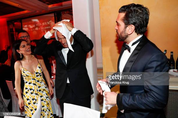 Viktoria Lauterbach Heiner Lauterbach and Elyas M'Barek during the 46th German Film Ball at Hotel Bayerischer Hof on January 26 2019 in Munich Germany