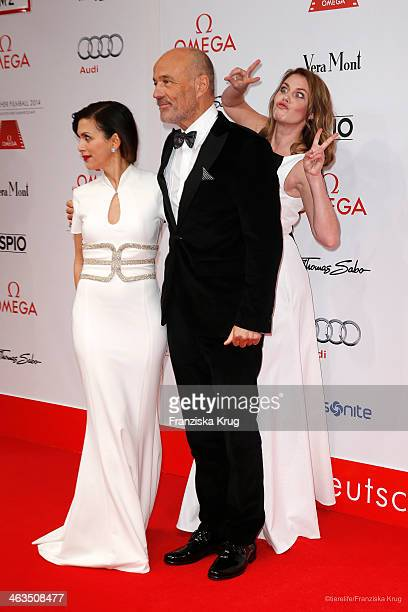 Viktoria Lauterbach Heiner Lauterbach and Felicitas Woll attend the German Film Ball 2014 on January 18 2014 in Munich Germany