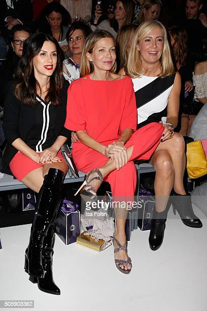 Viktoria Lauterbach Ursula Karven and Judith Milberg attend the Laurel show during the MercedesBenz Fashion Week Berlin Autumn/Winter 2016 at...
