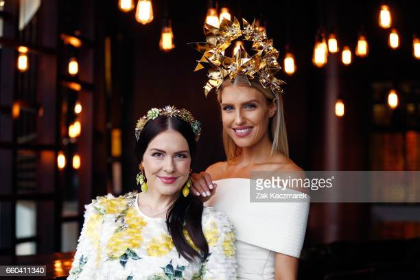 Viktoria Novak and Erin Holland pose during the Star Doncaster Mile Inaugural Luncheon at The Star on March 30 2017 in Sydney Australia