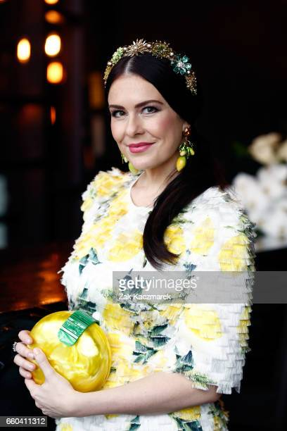 Viktoria Novak poses during the Star Doncaster Mile Inaugural Luncheon at The Star on March 30 2017 in Sydney Australia
